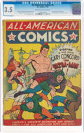 Golden Age (1938-1955):Superhero, All-American Comics #8 (DC, 1939) CGC VG- 3.5 Cream to off-white pages....