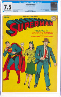 Superman #30 (DC, 1944) CGC VF- 7.5 Cream to off-white pages