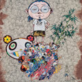 Prints & Multiples, Takashi Murakami (b. 1962). Panda Family and Me, 2015. Offset lithograph in colors on satin wove paper. 19-5/8 x 19-5/8 ...