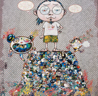 Takashi Murakami (b. 1962) A Space for Philosophy, 2013 Offset lithograph in colors on satin wove paper 19-5/8 x 19-5