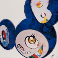 Takashi Murakami (b. 1962) And Then x 6 (Blue: The Superflat Method), 2013 Offset lithograph in colo