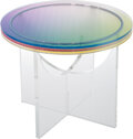 Collectible, Felipe Pantone (b. 1986). Subtractive Variability Circular Side Table 2, 2019. UV paint on PMMA with metal ball bearings...