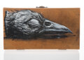 Collectible, ROA (b. 1976). Bird Box, early 21st century. Mixed media on wooden box. 7-3/4 x 4-1/4 x 2-1/4 inches (19.7 x 10.8 x 5.7 ...