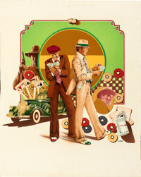 The Sting by Charles Moll (Universal, 1973). Near Mint. Original Mixed Media Poster Artwork on Illustration Board (24&qu...