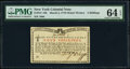 New York March 5 , 1776 (Water Works) 4s PMG Choice Uncirculated 64 EPQ