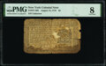Colonial Notes:New York, New York August 13, 1776 $2 PMG Very Good 8.. ...