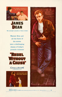 """Rebel Without a Cause (Warner Bros., 1955). Very Fine on Linen. One Sheet (27"""" X 42"""")"""