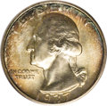 Washington Quarters: , 1937-S 25C MS67 PCGS. Vibrant golden-russet and jade-green marginssurround brilliant centers. A lustrous Superb Gem with a...