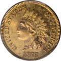 Proof Indian Cents: , 1875 1C PR65 Red PCGS. One of approximately 700 proof cents prepared in 1875, this lovely Gem is completely original. Rich ...
