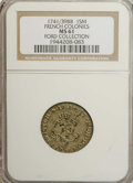 Colonials: , 1741/39-BB SOU M French Colonies Sou Marque MS61 NGC. Vlack-252b.Ex: Ford Collection. Dove-gr...