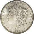 Morgan Dollars: , 1921-S $1 MS66 PCGS. Ex: Jackson Hole. The keen-eyed observer willnote a slight tinge of pas...