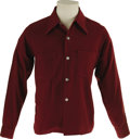 Music Memorabilia:Costumes, Buddy Holly Stage-Worn Maroon Long-Sleeve Shirt. AmericanCasuals-brand maroon shirt, size medium, worn on stage by Hollyfr...