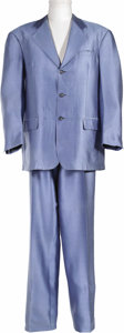 "Music Memorabilia:Costumes, Four Tops' Abdul ""Duke"" Fakir Worn Suit. A powder-blue silk crepesuit with satin lining worn by Fakir on a Motown TV reunio..."
