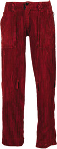 "Music Memorabilia:Costumes, Vivienne Westwood and Malcolm McLaren Designed Punk Trousers. Anoriginal pair of red striped corduroy ""bondage"" trousers by..."