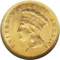 Three Dollar Gold Pieces: , 1878 $3 MS64 NGC. This lovely near-Gem has a pleasing, frosty sheen and nice reddish-gold and green-gold toning. Generally ...