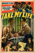 """Movie Posters:Black Films, Take My Life (Consolidated, 1942). Fine/Very Fine on Linen. One Sheet (27"""" X 41"""").. ..."""