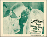 """Superman (Columbia, 1948). Near Mint. Lobby Card (11"""" X 14"""") Chapter 1 -- """"Superman Comes to Earth.""""..."""
