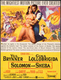 """Movie Posters:Drama, Solomon and Sheba & Other Lot (United Artists, 1959). Overall: Fine+. Trimmed Window Card (12.75"""" X 16.75""""), Lobby Cards (3)... (Total: 5 Items)"""