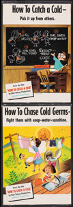 """Movie Posters:Documentary, How to Catch a Cold (RKO, 1951). Fine-. Laminated Educational Poster Set of 6 (14"""" X 20""""). Documentary.. ... (Total: 6 Items)"""