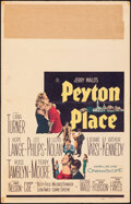 """Movie Posters:Drama, Peyton Place & Other Lot (20th Century Fox, 1958). Folded, Fine+. Window Card (14"""" X 22"""") & Insert (14"""" X 36""""). Drama.. ... (Total: 2 Items)"""