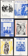 """Movie Posters:Rock and Roll, The Beach Boys & Other Lot (1960s). Very Fine-. Sheet Music (13) (4 Pages, 9.25"""" X 12""""). Rock and Roll.. ... (Total..."""