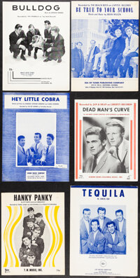 """The Beach Boys & Other Lot (1960s). Very Fine-. Sheet Music (13) (4 Pages, 9.25"""" X 12""""). Rock and Roll..."""
