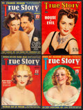 """Movie Posters:Miscellaneous, True Story Magazine (McFadden Publications, 1936/1937/1941). Fine+. Magazines (4) (Multiple Pages, 8.5"""" X 11.5). Miscellaneo... (Total: 4 Items)"""
