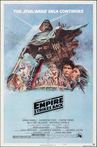 """The Empire Strikes Back (20th Century Fox, 1980). Folded, Very Fine+. One Sheet (27"""" X 41"""") Style B. Tom Jung..."""