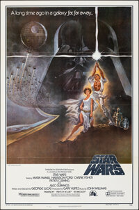"""Star Wars (20th Century Fox, 1977). Folded, Very Fine+. 2nd Printing One Sheet (27"""" X 41"""") Style A. Tom Jung A..."""
