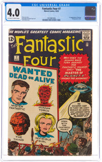 Fantastic Four #7 (Marvel, 1962) CGC VG 4.0 Off-white to white pages