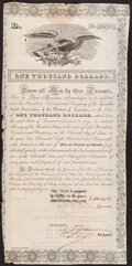 Obsoletes By State:Louisiana, New Orleans, LA- State of Louisiana $1000 Bond May 1, 1836 Fine.. ...