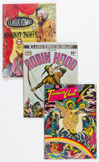 Classic Comics and Treasure Chest Group of 13 (Gilberton, 1950s) Condition: Average GD.... (Total: 13 Comic Books)