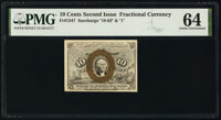 Fr. 1247 10¢ Second Issue PMG Choice Uncirculated 64