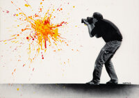 Martin Whatson (b. 1984) Photographer, 2008 Stencil and spray paint on canvas 19-5/8 x 28-5/8 inches (49.8 x 72.6 cm)