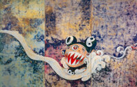 Takashi Murakami (b. 1962) 727, 2003 Offset lithograph on smooth wove paper 25-3/4 x 39-1/4 inche