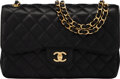 """Luxury Accessories:Bags, Chanel Black Quilted Caviar Leather Jumbo Double Flap Bag with Gold Hardware. Condition: 2. 12"""" Width x 7.5"""" Height x ..."""