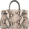 Luxury Accessories:Bags, Asprey Neutral Snakeskin Tote Bag Condition:...