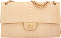 Luxury Accessories:Bags, Chanel Beige Python Flap Bag with Brushed Gold Hardware