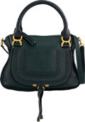 Luxury Accessories:Bags, Chloé Intense Green Calfskin Leather Marcie Bag