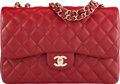 """Luxury Accessories:Bags, Chanel Red Quilted Caviar Leather Jumbo Flap Bag with Gold Hardware . Condition: 3. 12"""" Width x 8"""" Height x 3.5"""" Depth..."""