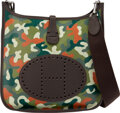 Luxury Accessories:Bags, Hermès 29cm Customized Green Camouflage Toile & Chocolate...