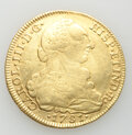 Colombia: Charles III gold 8 Escudos 1781 NR-JJ XF (Scratches)