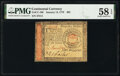 Colonial Notes:Continental Congress Issues, Continental Currency January 14, 1779 $65 PMG Choice About Unc 58 EPQ.. ...