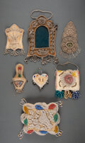 American Indian Art:Beadwork and Quillwork, Seven Iroquois Beaded Cloth Whimsies... (Total: 7 )