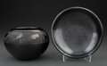 American Indian Art:Pottery, Two San Ildefonso Blackware Items... (Total: 2 )