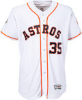 Baseball Collectibles:Uniforms, 2017 Justin Verlander World Series Game Issued & Signed Jersey....