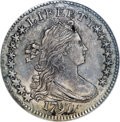 Early Dimes, 1797 10C 16 Stars--Reverse Repaired--NCS. AU Details....