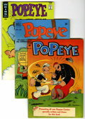 Golden Age (1938-1955):Cartoon Character, Popeye Group (Dell, 1948-67).... (Total: 3 Comic Books)
