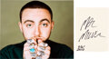 Music Memorabilia:Autographs and Signed Items, Mac Miller Signed Card. ...