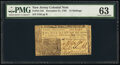 Colonial Notes:New Jersey, New Jersey December 31, 1763 12s PMG Choice Uncirculated 6...